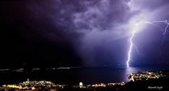 Montreux Lman (Alexandre Gugler) Tags: omd em10 montreux suisse lman night nuit clairs orage thunderbolt thunderstorm