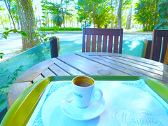 Delicious coffee in the park! #Explore (denise.bardauil) Tags: coffee park chair table cup nikon