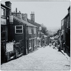 Haworth 2 (chromaphoto.co.uk) Tags: haworth westyorkshire yorkshire bronte wuthering heights mono monochrome bw mainstreet