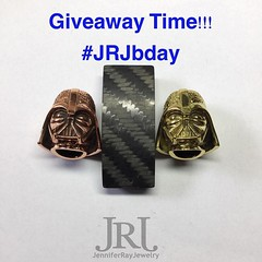 Giveaway Time!! To continue the celebration of my Birthday I am doing a giveaway. What you could win: A custom Carbon Fiber Bracelet with Your choice of either the Brass or Copper Darth bead, 4x4 Matte Carbon Fiber knotted together with Black cord in a Ki (JenniferRay.com) Tags: instagram carbon fiber jewelry exclusive jrj jennifer ray paracord custom