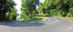 Hairpin (sgreen757) Tags: hairpin road climb hill bend nailsworth minchinhampton rodborough glos gloucestershire panorama nikon d7000 sunny summer september 2016