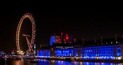 London Eye (iankent1963) Tags: london eye river capital thames nightshot countyhall nikon d5100 long explore city westminster