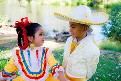 Jalisco Kids (maiagonzalez1) Tags: folklorico folklore folklor folk mexico mexican dance dancing balletfolklorico canon people dancers dancer culture tradition cultural mexicano california centralvalley selma centrodefolklor students student girl flowers smiling smile costumes jalisco yellow charro sombrero ribbons outdoor nature headpiece allrightsreserved copyright 24bit