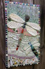 Dragonflies (Gila Mosaics n'stuff) Tags: gilamosaics mosaic art nature insect dragonfly picassiette fleurdelis awardwinner