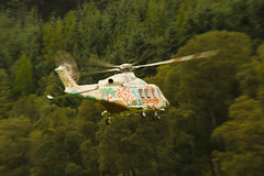 Taking off (Keith (foggybummer)) Tags: glenesk helicopter flying roter trees