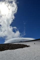 Sun Clouds over Rainier (Sotosoroto) Tags: dayhike hiking mtrainier burroughsmountain cascades washington mountains snow cloud