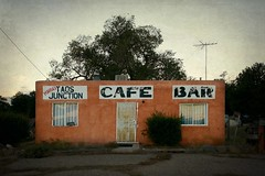 Maria's Taos Junction (Curt Bianchi) Tags: curtbianchi ojocaliente newmexico route 285 marias taos junction cafe bar textured