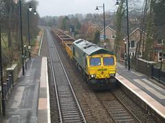 "Freightliner Class 66 66585 ""The Drax Flyer"" flies through Codsall (Oz_97) Tags: codsall codsallstation"