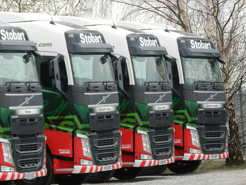 New Eddie Stobart Volvos awaiting collection