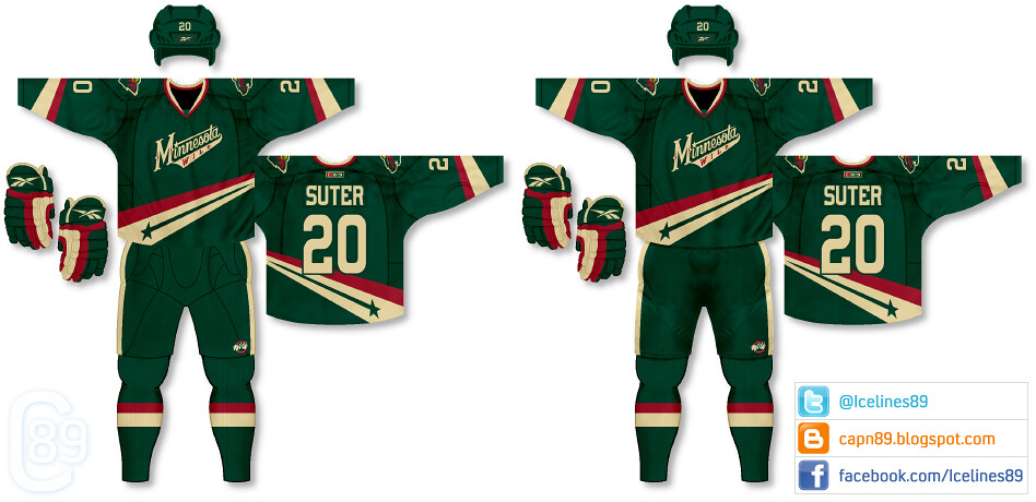 Minnesota Wild Update (capn89) Tags  hockey nhl uniforms jerseys concepts  minnesotawild icelines paulracz f6a2b2d6b