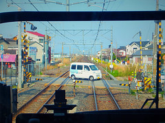 View From The Train. Nara, Japan. (kinkicycle.com) Tags: japan train japanese crossing nara