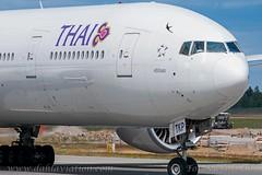 HS-TKP, Thai Airways International, Boeing 777-3AL(ER) - cn 41525. (dahlaviation.com Thanks for over 1 !! million view) Tags: oslo norway airplane aircraft aviation airplanes boeing 777 osl gardermoen aircrafts thaiairways engm