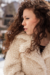 Windswept (Gemma Stevens Photography) Tags: winter light portrait woman selfportrait snow canada art me nature girl beautiful fashion portraits self canon hair person photography frozen photo nice student eyes image skin quebec outdoor montreal gorgeous awesome young makeup naturallight location canadian calm gemma fabric serenity indie northamerica environment brunette dslr headshots gaze curlyhair regal edit eyeliner copyrighted individuals pointeclaire justshoot portraitsgirl canon5dmarkii gemmastevens