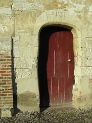 Gouy-l'Hpital (Porte de l'glise avec inscription 1681) (xavnco2) Tags: door france church chiesa porte glise picardie somme kirsche hornoylebourg gouylhopital
