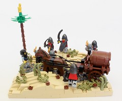 Taking Back the Supply Train (jsnyder002) Tags: tree wagon landscape sand desert lego dunes parrot palm supplies moc aymeri kaliphlin