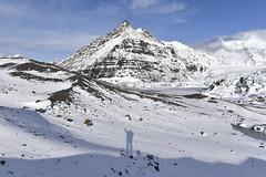 Me and my shadow overlooking Vatnajkull glacier, Iceland (diana_robinson) Tags: iceland glacier southerniceland vatnajkullglacier