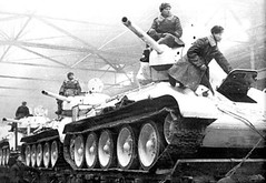 March 1942 Acceptance of T-34 tanks-76 at the Ural plant. Ordzhonikidze.
