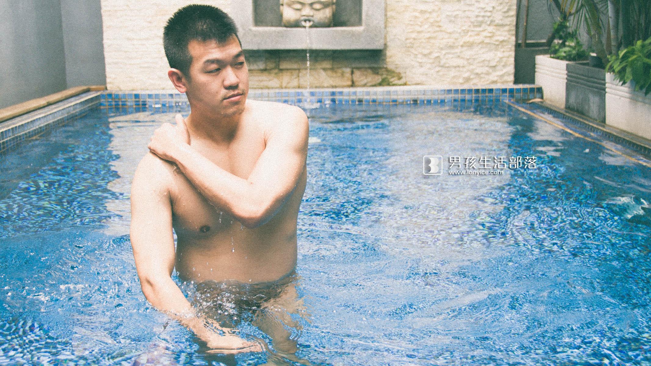 Poolside man #20