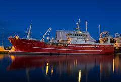 Night in Skagen (Per-Karlsson) Tags: longexposure water night reflections denmark harbour vessel midnight nightphoto shipyard skagen fishingvessel nordjylland canonef24105mmf40lisusm canoneos6d