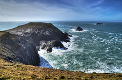 Dinas Head, Cornwall (Baz Richardson (now away until 20 July)) Tags: coast rocks cornwall cliffs headlands thebull dinashead stinkingcove thequies