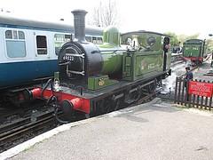 NER Class E1 (LNER Class J72) 69023 Joem is uncoupled at North Weald, EOR 150 Epping Ongar Railway 24.04.15 (TrevBruford55015) Tags: heritage train tank north engine railway class steam 150 locomotive e1 epping weald ner lner ongar eor joem nelpg 69023 j72 060t