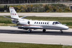 Private --- Cessna 560 Citation Encore ---  F-HLIM (Drinu C) Tags: plane private aircraft aviation sony dsc cessna encore citation mla 560 bizjet privatejet lmml fhlim hx100v adrianciliaphotography