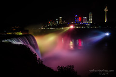 Niagra Falls Lit Up (Ron Harbin Photography) Tags: canada up night lights pretty niagra falls waterfalls lit saariysqualitypictures