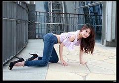 nEO_IMG__MG_7030 (c0466art) Tags: park blue light portrait motion beautiful face station female canon pose nice perfect asia long pretty slim candy jean legs outdoor body gorgeous line figure tall charming elegant mrt activity curve  1dx c0466art