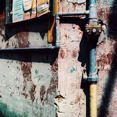 Rusted open - Kodak EKTACHROME E200 (emulsivefilm) Tags: 120mediumformatfilm 2016august 6x6 ei100 ei200 emulsivedailyphoto iso100 iso200 kodak kodakektachromee200 slidefilmcolorreversal