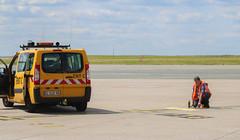 "Painting ""CS100"" on the ground (Arnaud Gaulupeau) Tags: aviation cdg parisaroport adp"