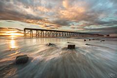 Steetley rush (Steve Clasper) Tags: uk sunset beach coast pier north coastal northern northeast hartlepool steetley steetleypier steveclasper