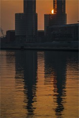(Massimo Cerrato) Tags: backlight candiano enel industries marinadiravenna molo orange porto sunset water