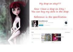 etsy (Emerald_Fairy) Tags: monster high doll ooak repaint draculaura