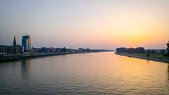 The sunset (Igor Klajo) Tags: sunset sundown river rijeka drava drau osijek slavonija waterfront outside evening clear sunny sun horizon cathedral katedrala kathedrale sky bluesky clearsky osjekobaranjska croatia gradnadravi