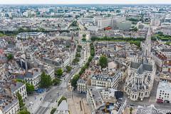 Nantes-Tour_de_Bretagne_vue_vers_Tramstation_Commerce_22072016 (giesen.torsten) Tags: nantes frankreich france paysdelaloire nikon tourdebretagne aussichtsplattform blickbernantes nikond810