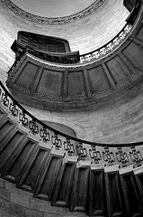Stair View (explored) (pjpink) Tags: spiral staircase stairs steps circular architecture stpauls cathedral anglican church wren london england britain uk may 2016 blackandwhite bw monochrome