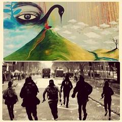 """Esta sonando la alarma de VIVIR"" (Felipe Smides) Tags: despertar volcan pillan riot riots chile protesta muralismo mural felipesmides smides molotov protestas wallmapu"