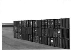 Savona Italy Boxes (Paolo_Monti) Tags: port sea nixon blackandwhite italy film analogic boxes bw vadoligure bianconero noirblanc