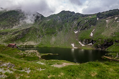 Balea lake and suroundings (Ady Negrean) Tags: travel summer sky landscape drive europe cabana romania traveling transylvania transilvania carpati mountainpass carpathian mountais fagaras balea erdely vidraru ardeal transfagarasan balealac carpathianmountains siebenburgen dn7c greatestroad