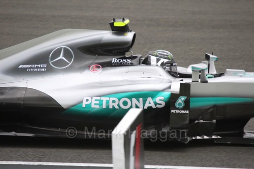 Nico Rosberg in his Mercedes in Free Practice 1 at the 2016 British Grand Prix