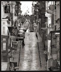 Steep (albireo 2006) Tags: valletta malta steep street blackwhitephotos blackandwhite blackandwhitephotos blackwhite bw