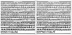 ITC Benguiat glyph set, 1977 (Stewf) Tags: type:face=itcbenguiat typespecimen phototype typeface font