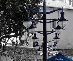 les lampadaires - lampposts (png nexus) Tags: street rue bleu blue desaturation
