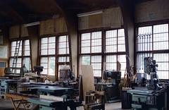 Factory (threepinner) Tags: school japan canon 50mm hokkaido ae1 negative   f18 hokkaidou selfdeveloped northernjapan nfd higashiura  f64d