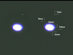Ksiyce Saturna (AstroBednar) Tags: astronomy astrophotography telescope magnification lense refractor sky watcher night solar system planet saturn moons titan