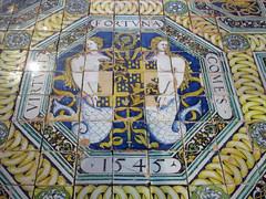 Faience tile floor, 1545 (Monceau) Tags: faence tile floor chteaudcouen musenationaldelarenaissance renaissance museum treasures