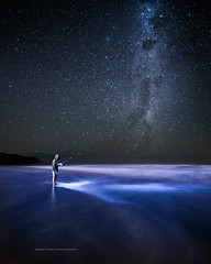 Fishing under a milky way night sky (Robert Lang Photography) Tags: australia eyrepeninsula photo photographer photography robertlang robertlangphotography robertlangphotographyportlincoln sa southaustralia commercialphotographer freelance freelancephotographer photos portlincoln portlincolnsouthaustralia adventure amazing astrology awe beach catch colour copyspace discover experience exploring fishing freedom galactic galaxy gaze man milkyway nature night nightsky oneperson purple reflection relaxation sand sea sky space sport star thinking vertical wild wonder wwwrobertlangcomau robertlangportlincoln robertlangaustralia
