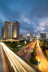 Sudirman Flyover Bluehour  - Jakarta (Abdul Azis (ais) - www.aisprophotography.com) Tags: jakarta flyover sudirman indonesia bluehour cityscape