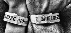Wrists (pixelphoto_at) Tags: time family fatherandson love wristband detail wrist hands bnw blackandwhite son father