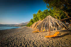 Sfinari Beach in Crete island, Greece. (Lucian Bolca) Tags: corfu creta kreta krete lefkada rhodos santorini sfinari thassos bamboo bay beach bed blue chair crete cyclades europe greece greek island kissamos landscape lounge mediterranean ocean parasol parasols protection sand sandy sea seascape seashore seaside shade shadow shore straw sun sunbed sunbeds sunny sunshade tanning tropical turquoise umbrella umbrellas water